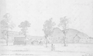 Ruins of the Sciennes convent in 1802.