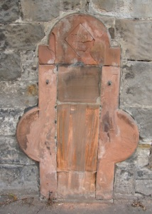 A crumbling plaque marks the site of the ornate drinking fountain installed in1888.