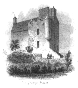 Grange House in the early 19th century, before major changes hid its late 16th century shape.