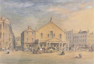 Shakespeare Square: The theatre took up most of the space, with taverns, shops and tenement flats tucked in behind and on the sides.