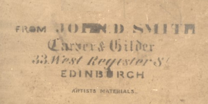 John D Smith's stamp used on the back of a picture frame.