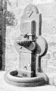1890s - a new granite drinking fountain, replacing the older Penny Well. Photographed by Jane Stewart Smith.