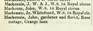 John Mackenzie gardener and florist Rose Cottage
