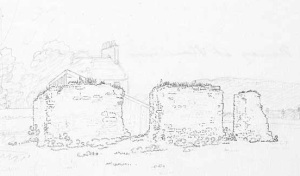 Sheens Walls, the remains of the Sciennes convent, source of stone for the Dean of Guild's Walk.