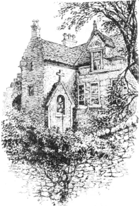 Belfry Tower, Grange House, published 1898